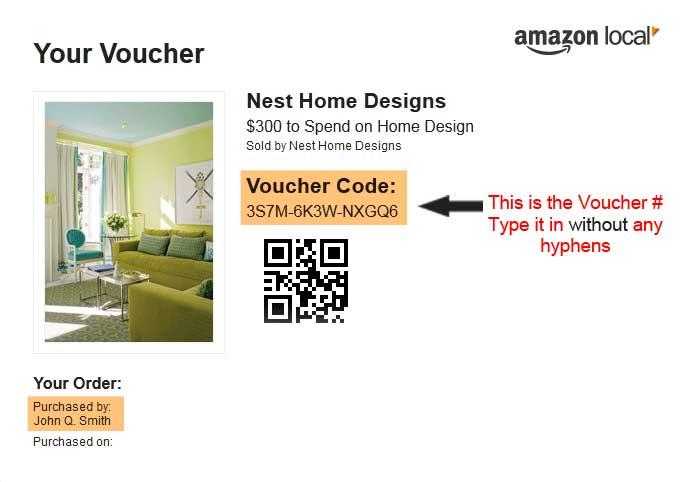 Amazon local voucher example