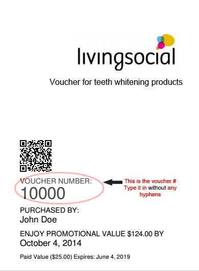 Example Living Social Vouchers