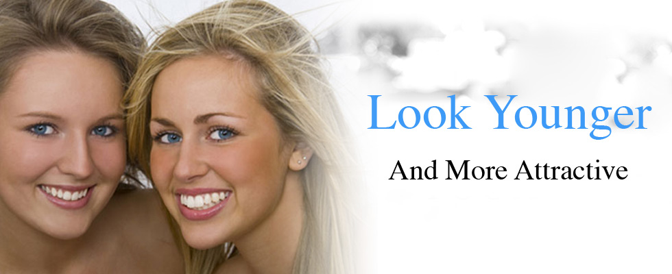 Look younger and more attractive with whiter teeth!